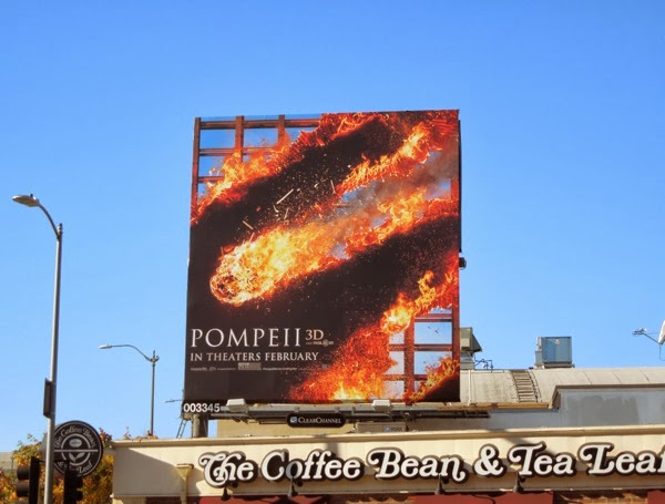 Pompeii movie billboard