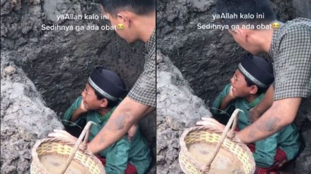 Bikin Mewek! Bocah Kumandangkan Azan untuk Jenazah Sang Ayah, Videonya Viral