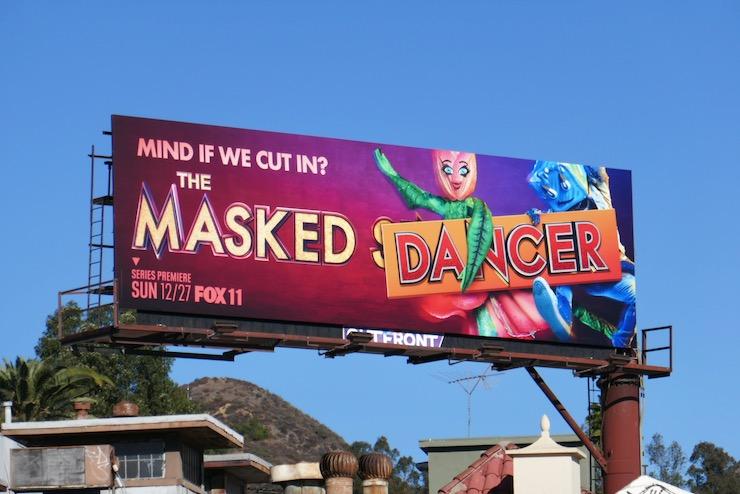 Masked Dancer series launch billboard