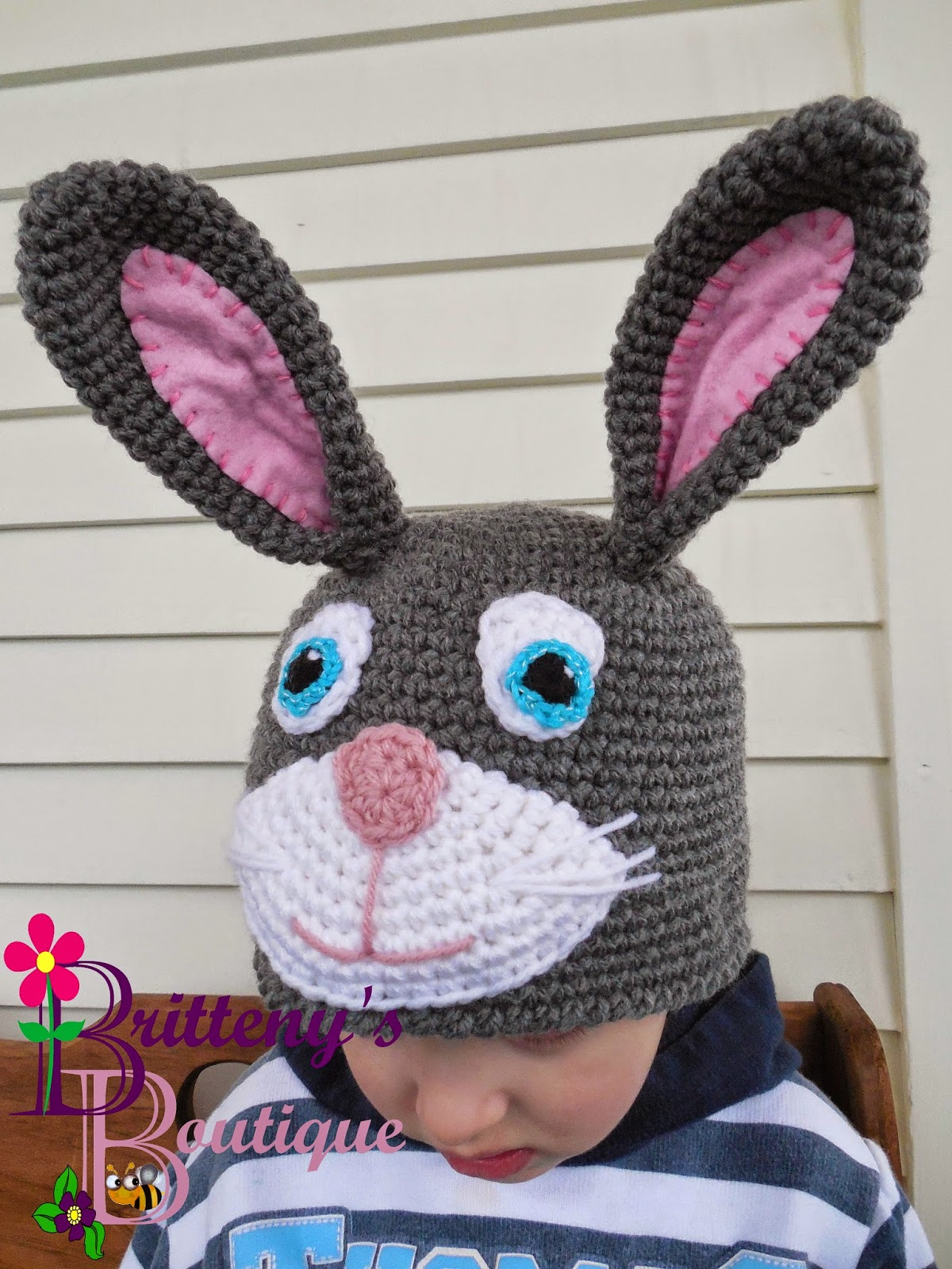 Britteny Off The Hook Bunny Rabbit Hat Crochet
