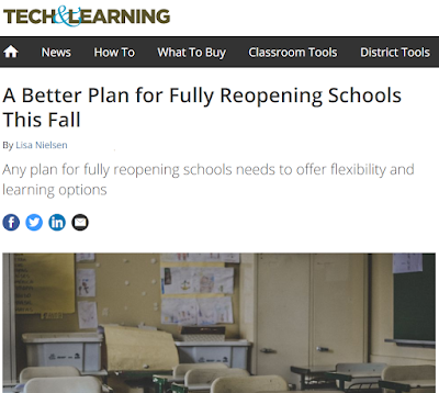 "Screenshot of the article ""A Better Plan for Reopening Schools"""