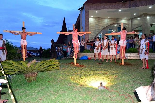 Paixão de Cristo em Roncador foi emocionante em sua 4ª  Edição