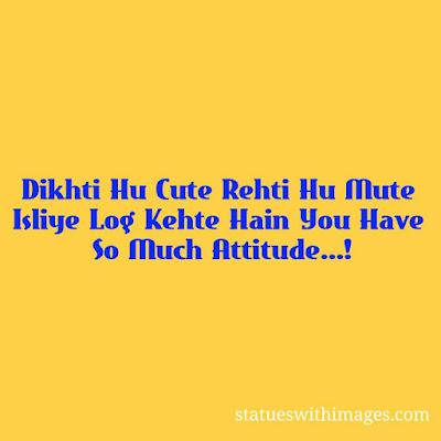 Girls Attitude in Hindi,girls attitude images