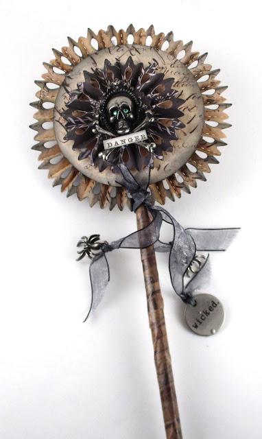 Sizzix Rosette Tim Holtz Thinlit Dies Tim Holtz Halloween Stash Idea-Ology Jolly Roger For the Funkie Junkie Boutique