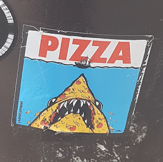 Pizza Shark sticker art by Samuel B Thorne at Elephant & Castle