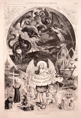 ¡Ya se fue el cólera! dibuix de José Riudavets Monjo (1840-1902) per a La Ilustración Española y Americana