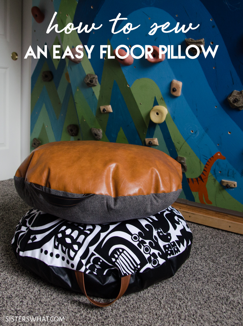 how to make large floor pillows