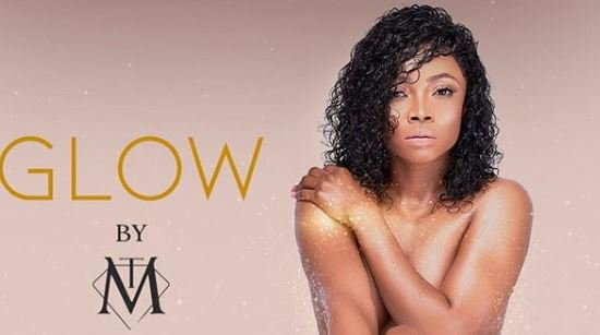 Toke Makinwa pose a Nude picture to campaign a New Beauty Brand