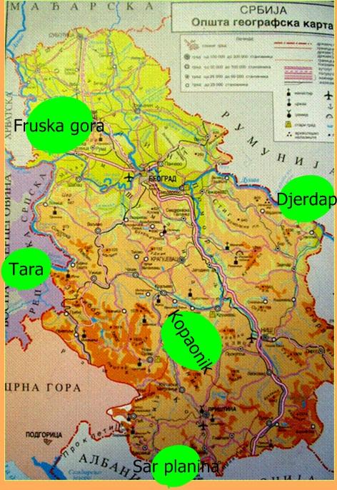 karta srbije tara Национални паркови Србије | Географија за гимназије karta srbije tara