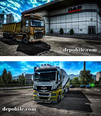 Euro Truck Simulator 2 1.37 Save İndir 7 Tane Efsane Tır