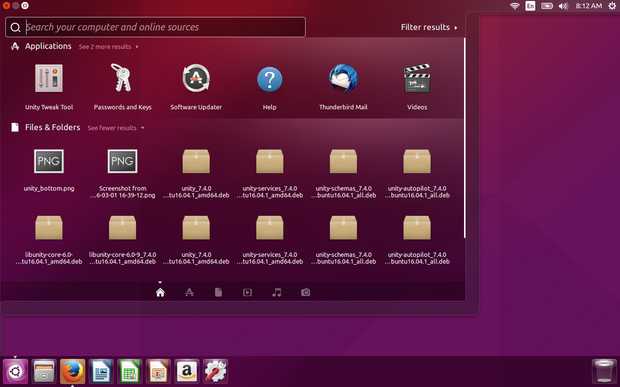 Ubuntu 16.04 with launcher on bottom of the screen