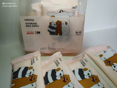 Miniso We Bare Bears Odorless Mild Wipes Review | Healthbiztips