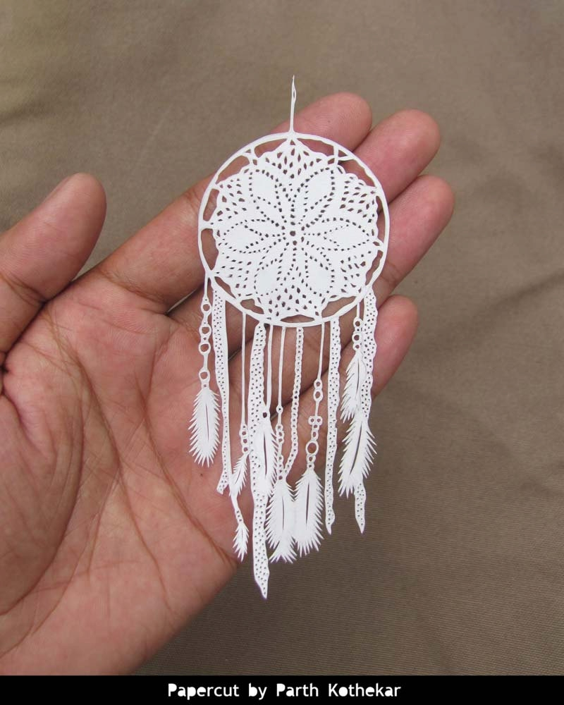 17-Crochet-Dreamcatcher-Parth-Kothekar-Beauty-and-Precision-in-Paper-Cut-Silhouettes-www-designstack-co