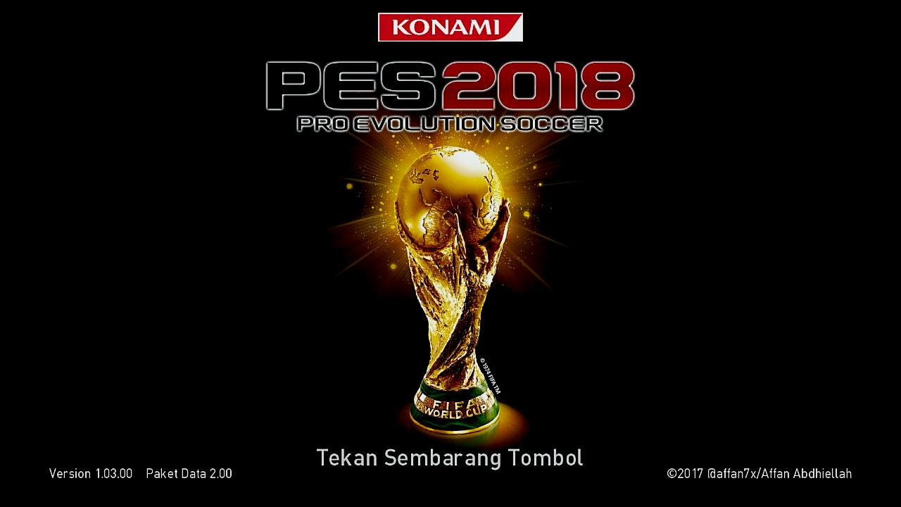 PES 2018 World Cup Start Screen by affan7x