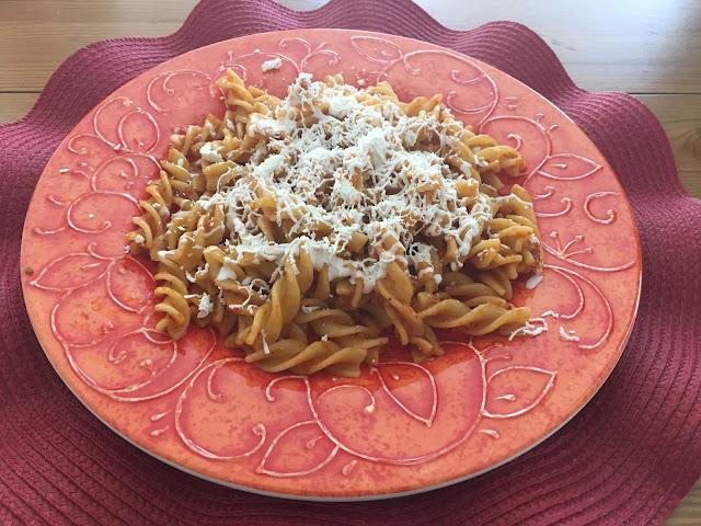 Receta de Fusilli en salsa de chipotle