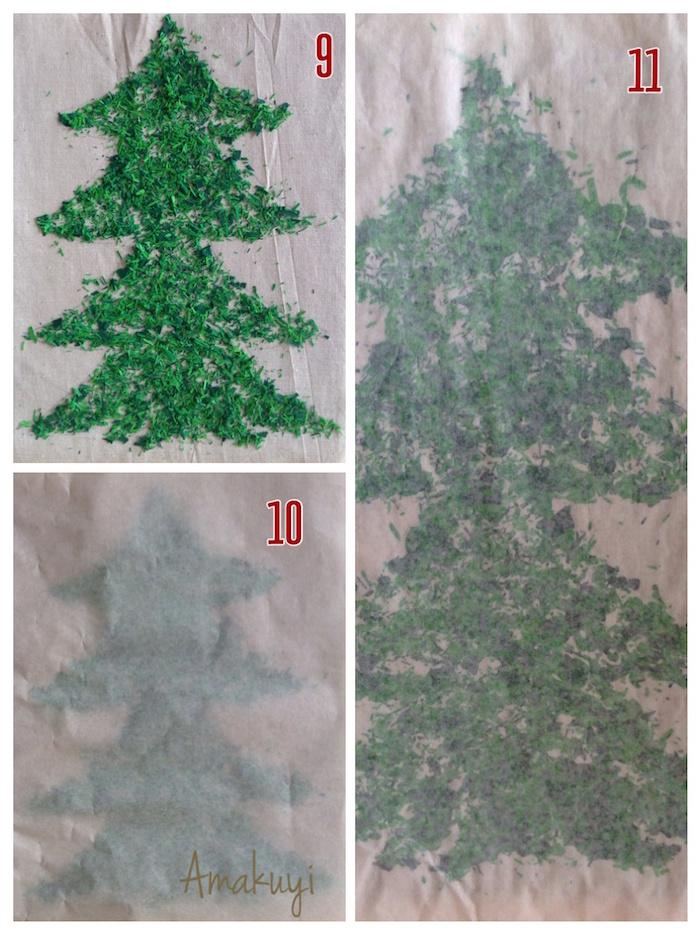 proceso de poner la pintura y pasar la plancha para hacer una tote-bag con pinturas de cera