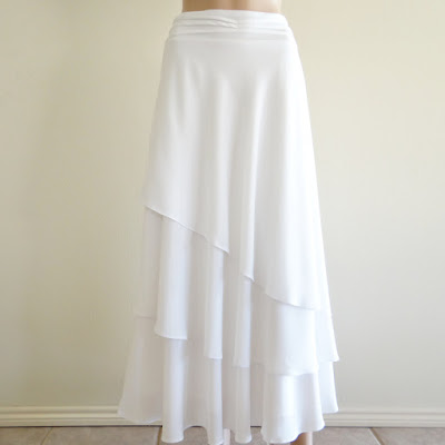 Model Rok Sifon Panjang Berlipat Putih Polos