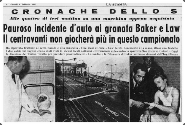 Denis Law Joe Baker La Stampa