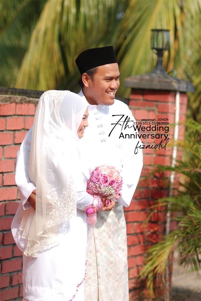 Happy Wedding Anniversary. 7 Tahun Dah!