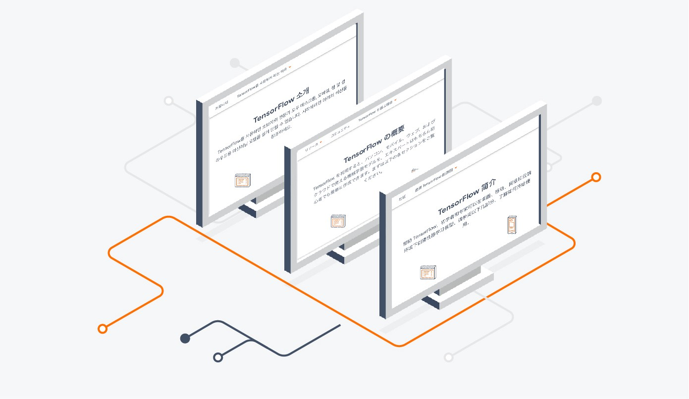 The TensorFlow website is now available in Simplified Chinese, Japanese, and Korean