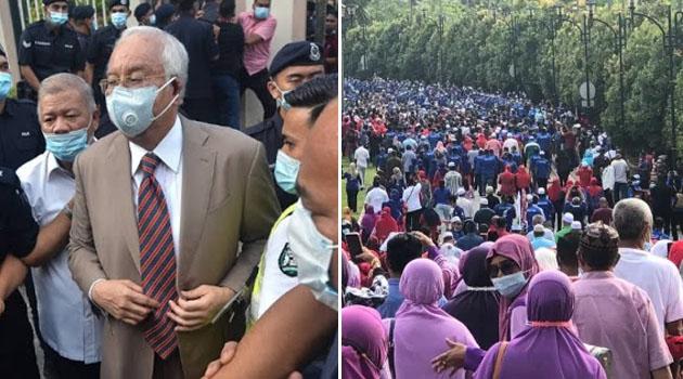 'Tolong kompaun diorang semua ni!' - Netizen desak polis ambil tindakan terhadap para penyokong Najib
