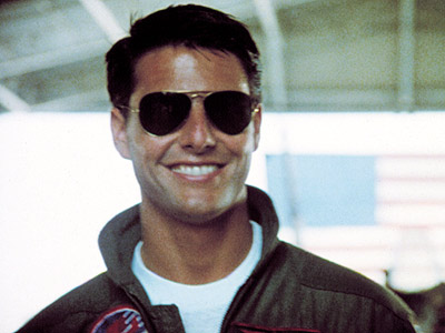 Tom Cruise smiling in Top Gun jjbjorkman.blogspot.com