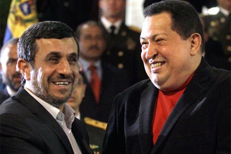 Presidente iraní Mahmoud Ahmadinejad y Hugo Chávez