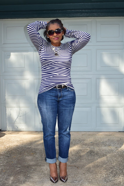 I got the idea of this top from my regular StitchFix box this last week.