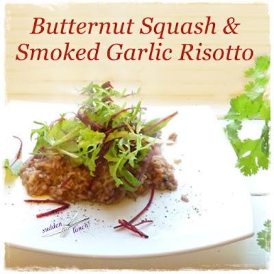 garlic and squash risotto