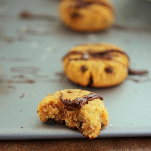 (Paleo) Almond Pumpkin Choc Chip Cookies