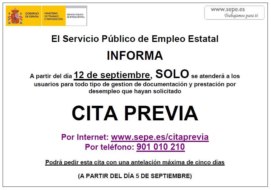 Marinieves el servicio p blico de empleo estatal el for Cita oficina virtual de empleo