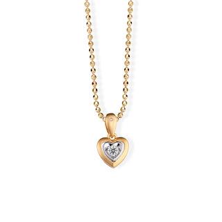 Dây chuyền kim cương nam có thiết kế trái tim