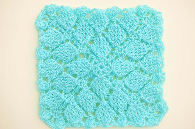 6 - Crochet Imagen Puntada colcha infinita de hojas en relieve a crochet por Majovel Crochet
