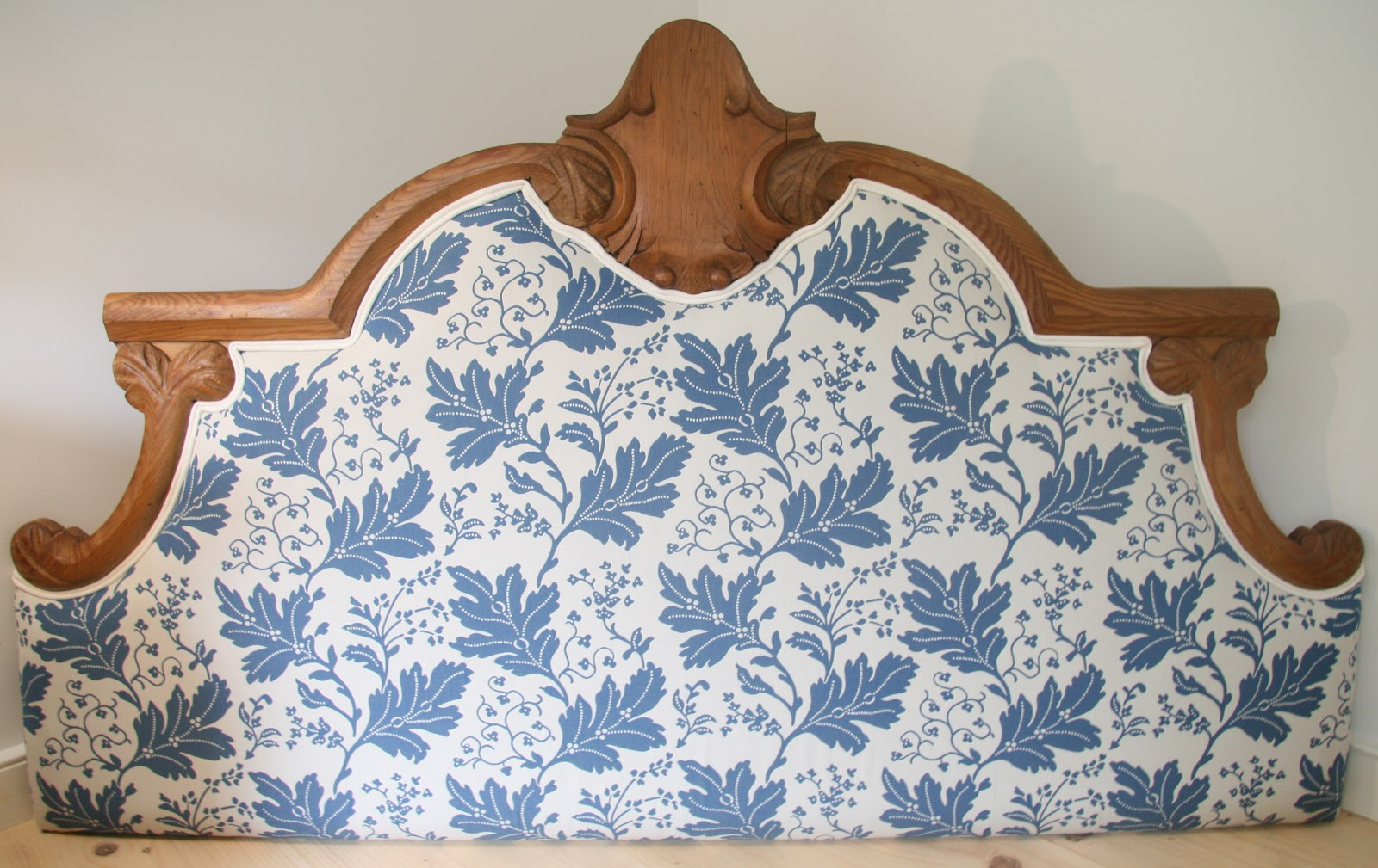 An Old Farm: Upholstering a Headboard
