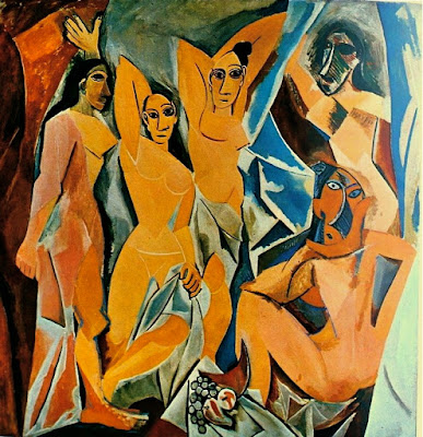 Picasso, Primitivism, Les Demoiselles d'Avignon, 1907, art, art history, painting, African art, African sculpture, Iberian sculpture, modern art