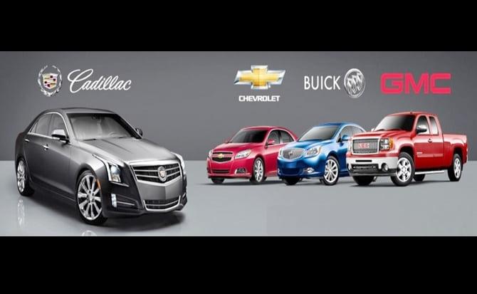 Chevrolet, Cadillac, Buick, GMC,