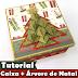 Como decorar Caixa de MDF   Scrapbook   Árvore de natal   Origami   Presente   #PapelEmTudo