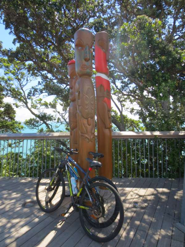 Totem poles at Achilles Point