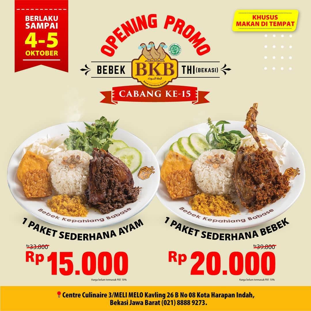 Bebek BKB Taman Harapan Indah Bekasi Opening Promo