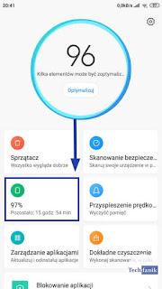 Xiaomi MIUI 10 Panel Sterowania Bateria