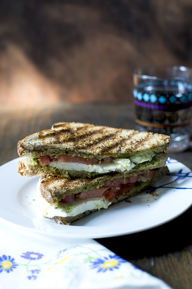 Caprese Sandwich with Pesto