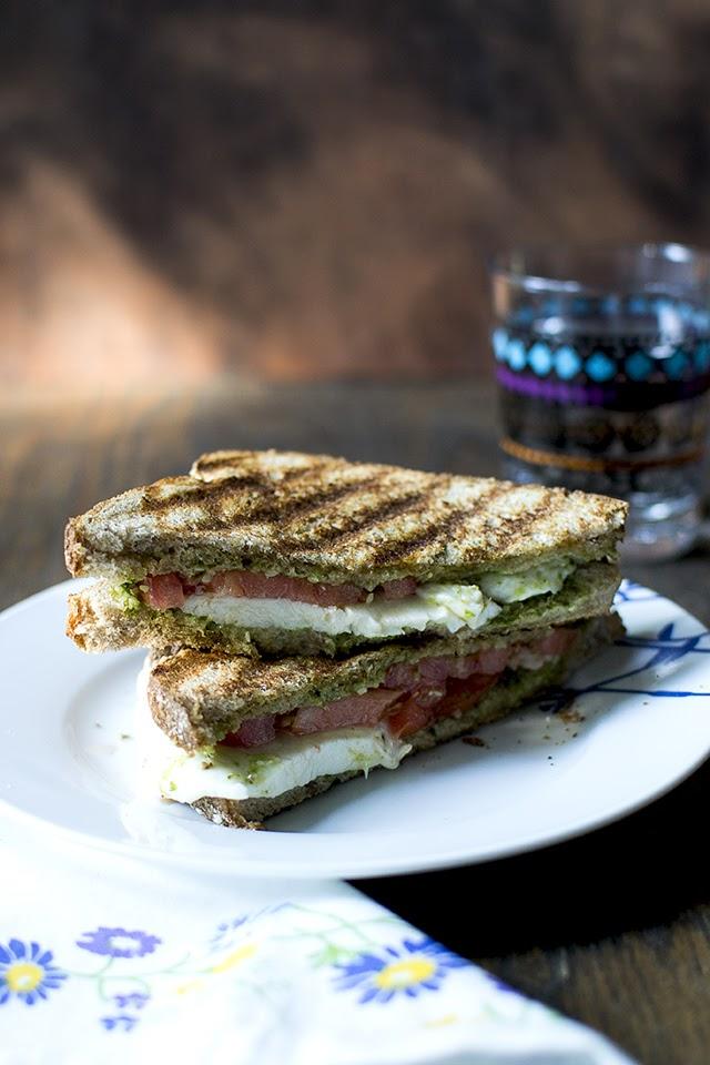 Caprese Sandwich with Pesto