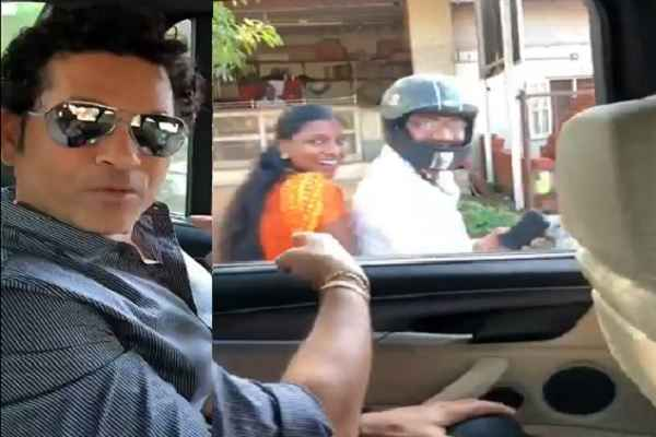 sachin-tendulkar-advise-to-wear-helmet-to-byke-rider-viral-video