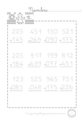 sumas de tres cifras