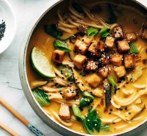 Coconut Curry Ramen #vegetarian #veggies