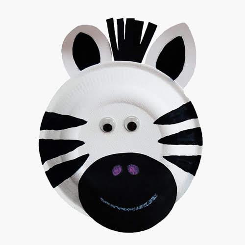 Membuat Zebra dari Piring Kertas