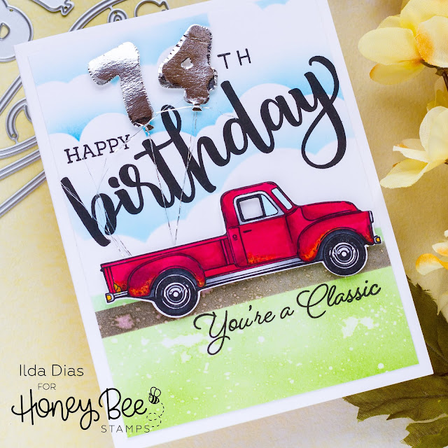 Little Pickup Birthday Card | Honey Bee Stamps