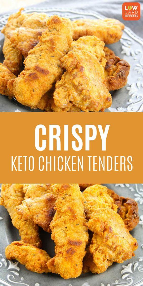 CRISPY KETO CHICKEN TENDERS