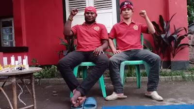 Foto : Ketua PMKRI Cabang Mataram Andreas Petrus Wakey dan Sekretaris Jenderal PMKRI Cabang Mataram, Gerardus Umbu Pati