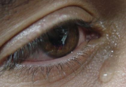Foto de la lágrimas de un hombre